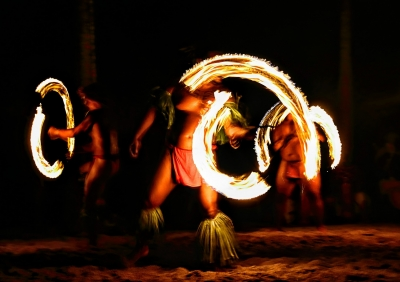 Traditional Fire Dancers are a popular part of the best Luaus.