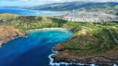 Aerial View of Hanauma Bay