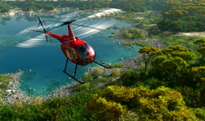 Helicopter tour over Oahu