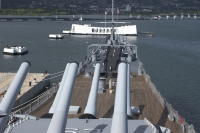 Battleship at Pearl Oahu - a Honolulu Attraction