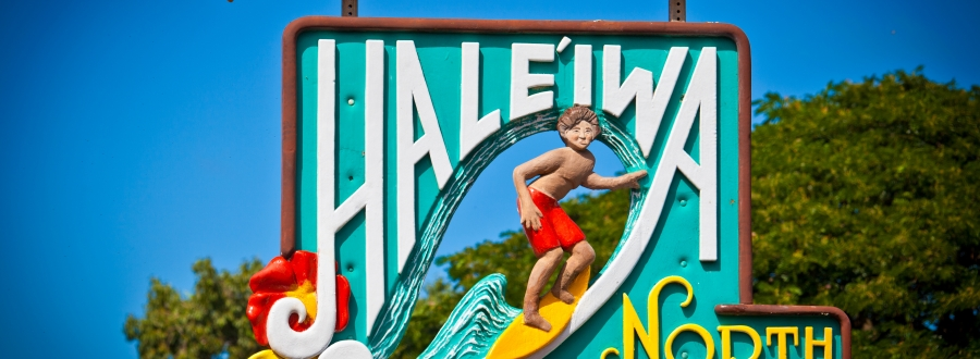 Haleiwa Town sign on Oahu's North Shore
