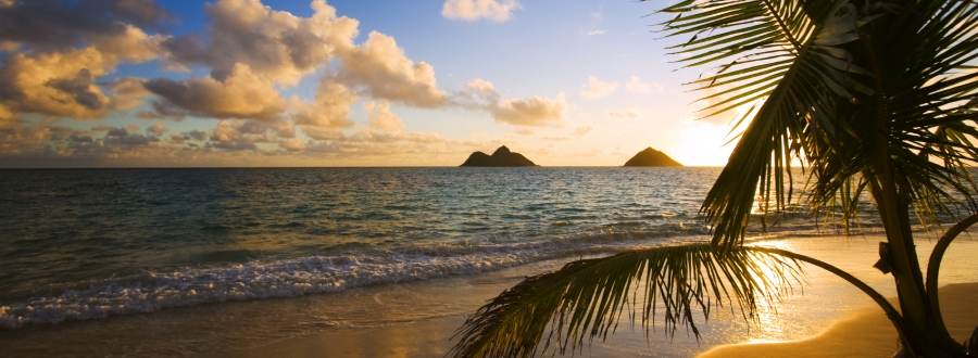 Sunset on Lanikai Beach