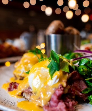 Delicious looking Eggs Benedict Dish