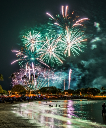Friday night fireworks on Oahu
