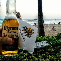 Corona beer at Duke's on Oahu