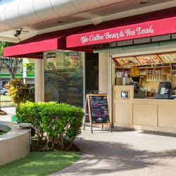 Small walk-up coffee shop on Oahu, Hawaii