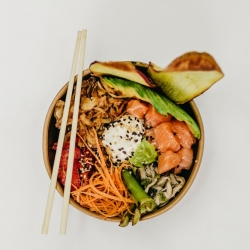 Asian food bowl