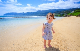 Child on Beach, Kid-Friendly Oahu Activities