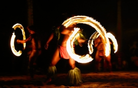 Fire Dancers performing on Oahu
