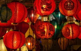 Red Chinese Hanging Lanterns