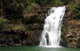 Beautiful Oahu Waterfall - An Oahu Attraction