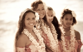 A group of hula dancers