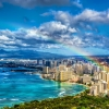 Rainbow Over Waikiki Beach